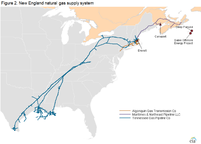 Natural Gas Problems in the Northeast: Pipeline Constraints, Weather and Other Risks