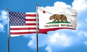 Reduce and regulate organic waste | CA and US flags on blue sky | Cost Control Associates