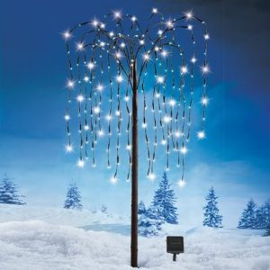 gifts that save energy and reduce waste | solar lit willow tree | Cost Control Associates