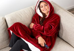 gifts that save energy and reduce waste | oversized lounging hoodie | Cost Control Associates