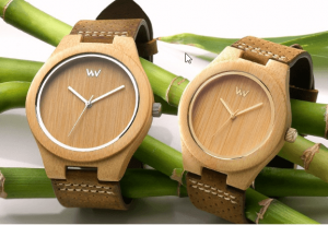 gifts that save energy and reduce waste | recycled wood watch | Cost Control Associates