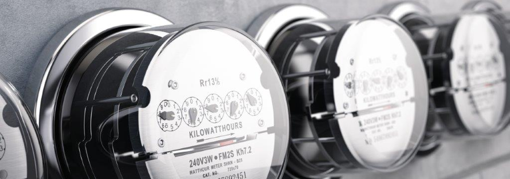 utility bill management | row of electricity meters | Cost Control Associates
