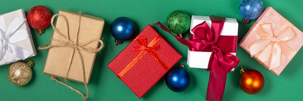 Holiday Gift Ideas | Banner of gifts | Cost Control Associates